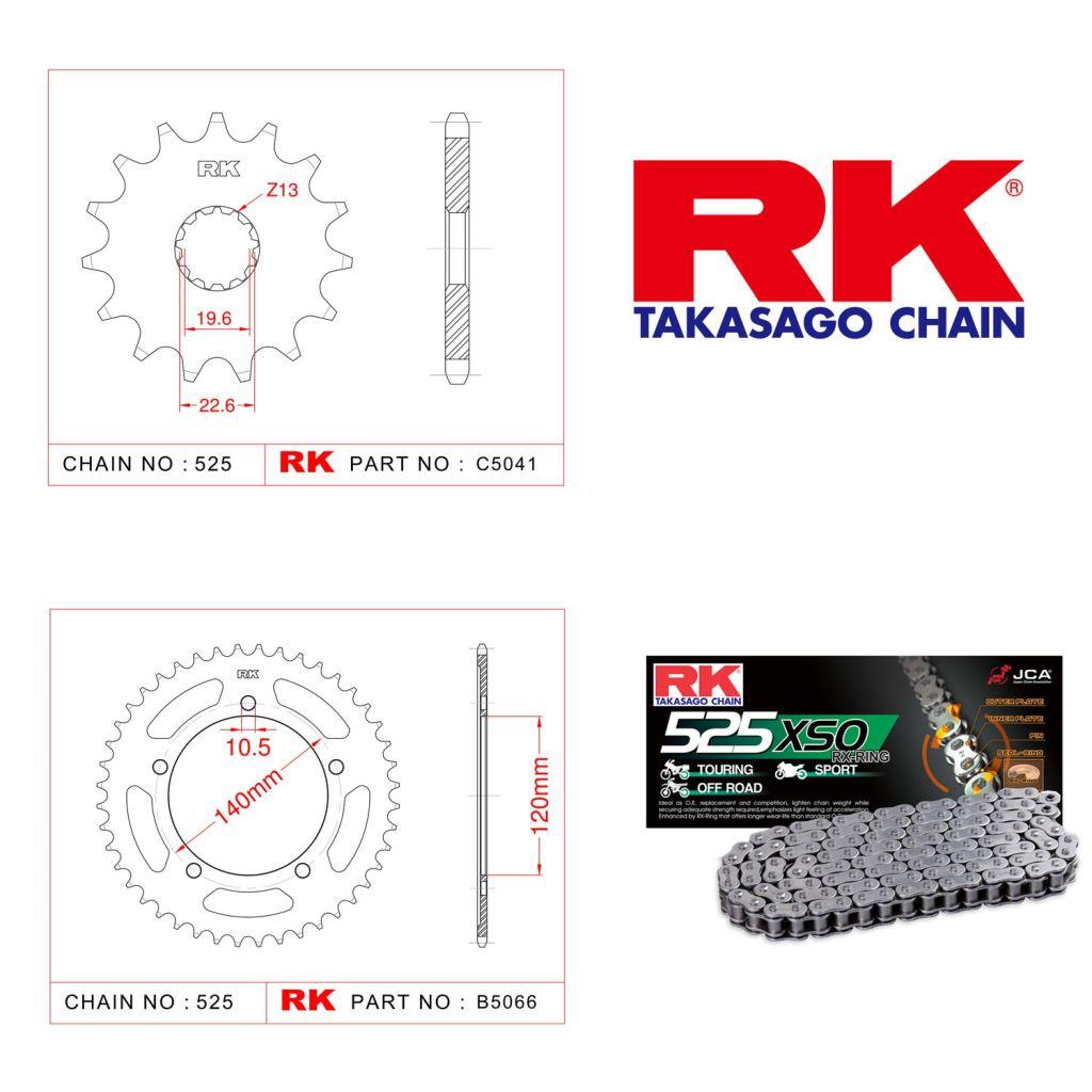 Rk X-ring Zincir Dişli Set 525 XSO-16/45T