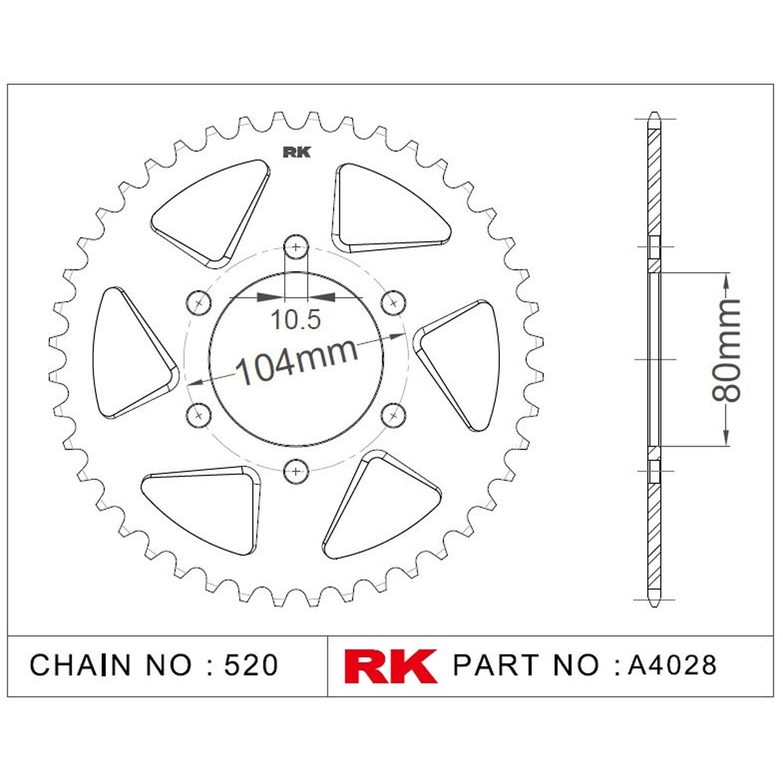 RK Aluminyum Arka Dişli A4028-43-0A