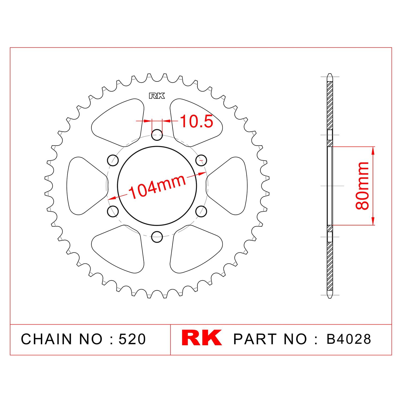 RK Çelik Arka Dişli B4028-43