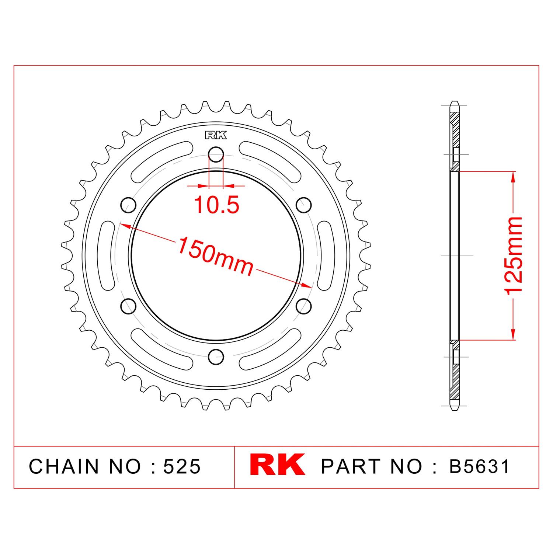 RK Çelik Arka Dişli B5631-42