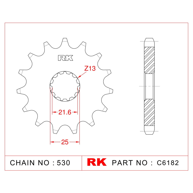 RK Çelik Ön Dişli C6182-17