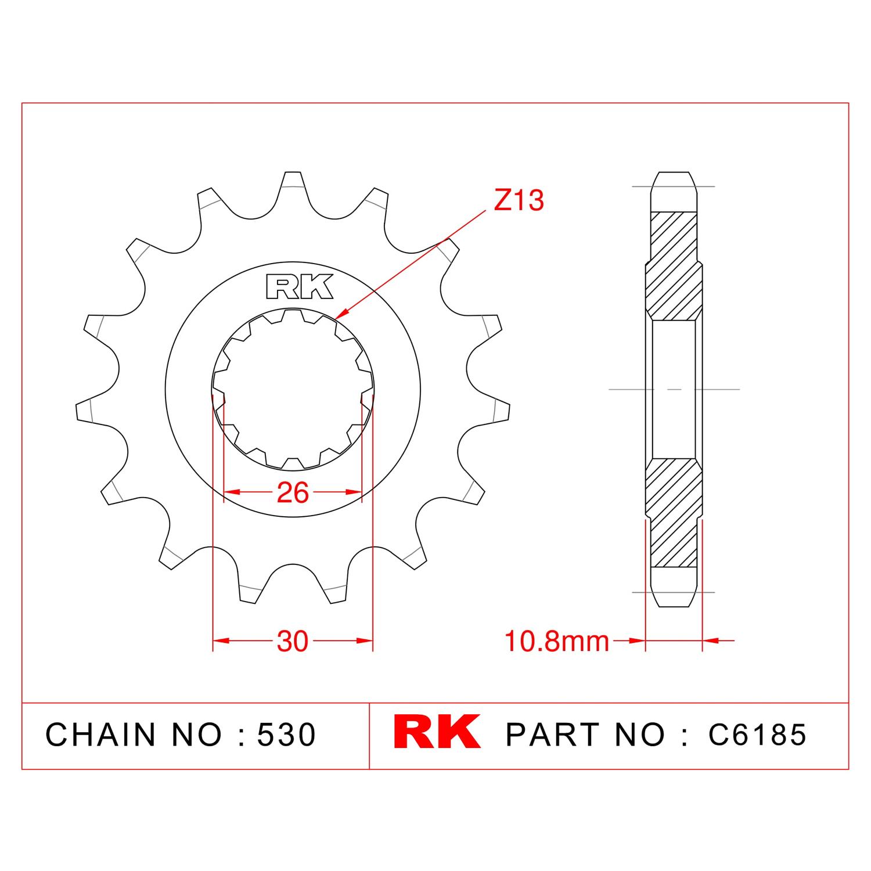 RK Çelik Ön Dişli C6185-16