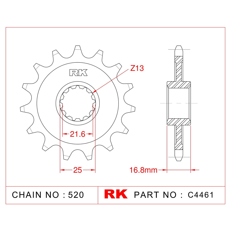 RK Çelik Ön Dişli C4461-17