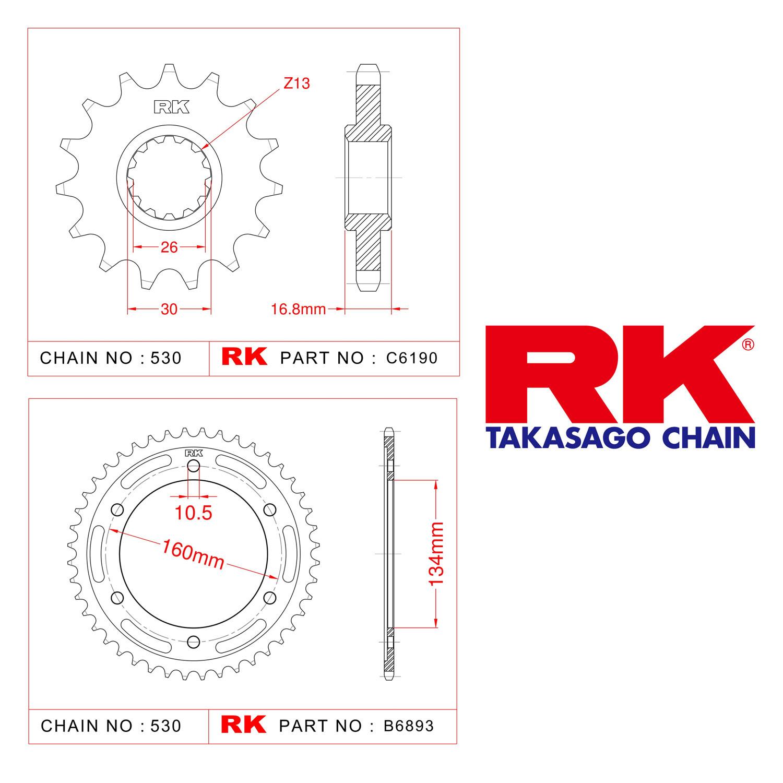 Rk Ön Arka Dişli 530 - 16/43 T