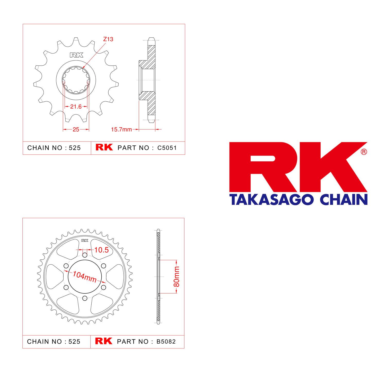 Kawasaki ZX-6 R Rk Ön Arka Dişli 525 - 15/40 T