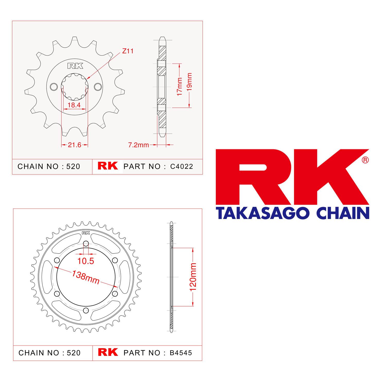 Rk Ön Arka Dişli 520 - 14/38 T