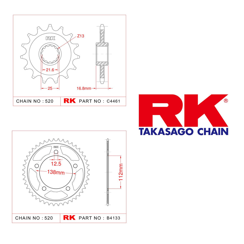 Rk Ön Arka Dişli 520 - 17/43 T