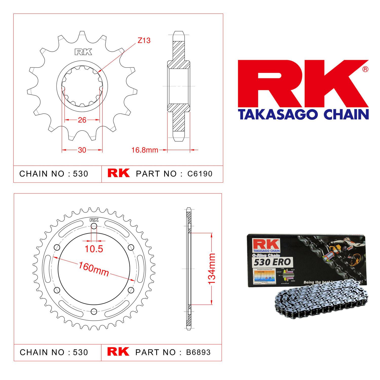 Rk Zincir Dişli Set 530 ERO O-Ring 16/43T