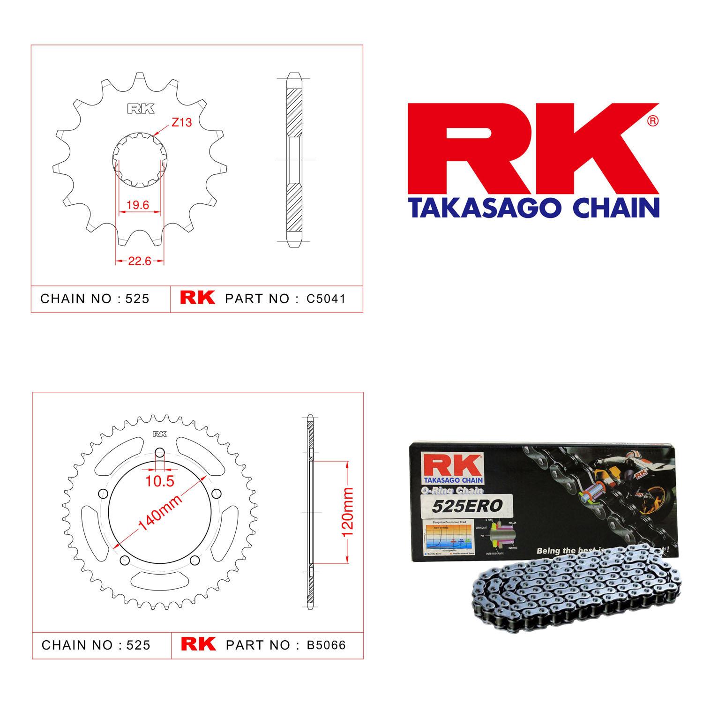 Rk Zincir Dişli Set 525 ERO O-Ring 16/45T