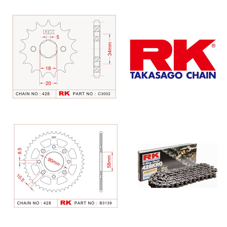 Rk O-ring Zincir Dişli Set 428 SO-16/39T