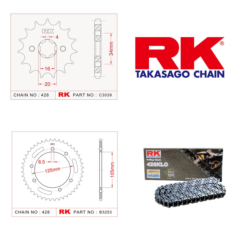 Rk Zincir Dişli Set 428 KLO O-Ring 14/48T