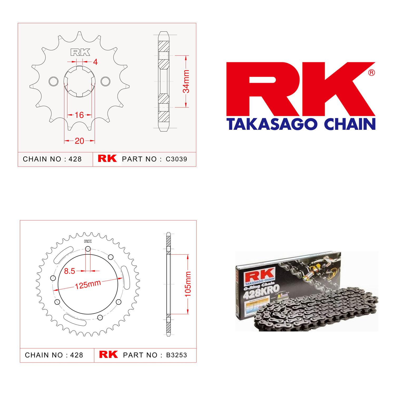 Rk O-ring Zincir Dişli Set 428 SO-14/48T