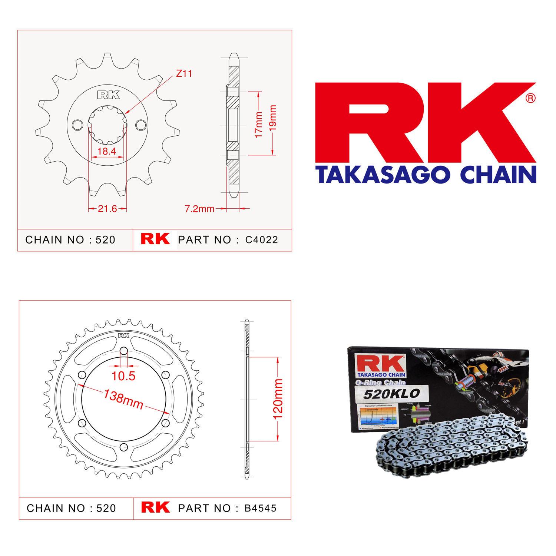 Rk Zincir Dişli Set 520 KLO O-Ring 14/38T