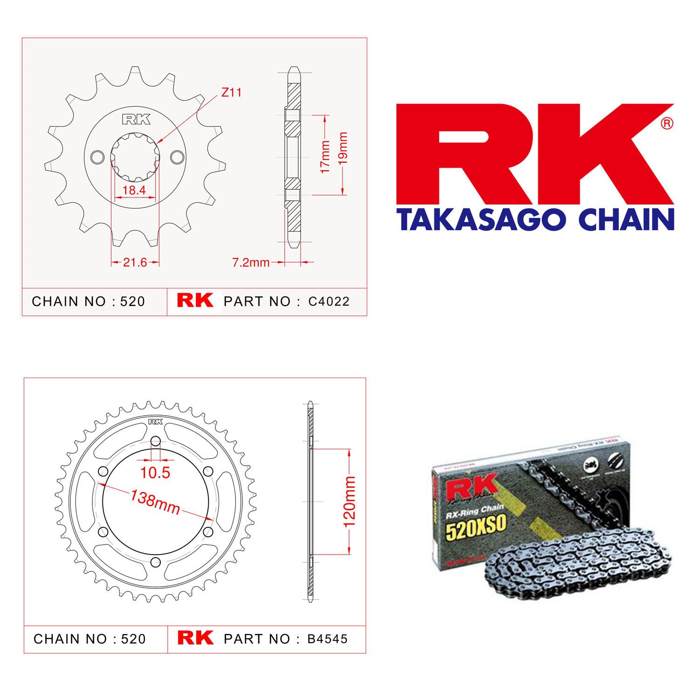 Rk X-ring Zincir Dişli Set 520 XSO 14/38 T