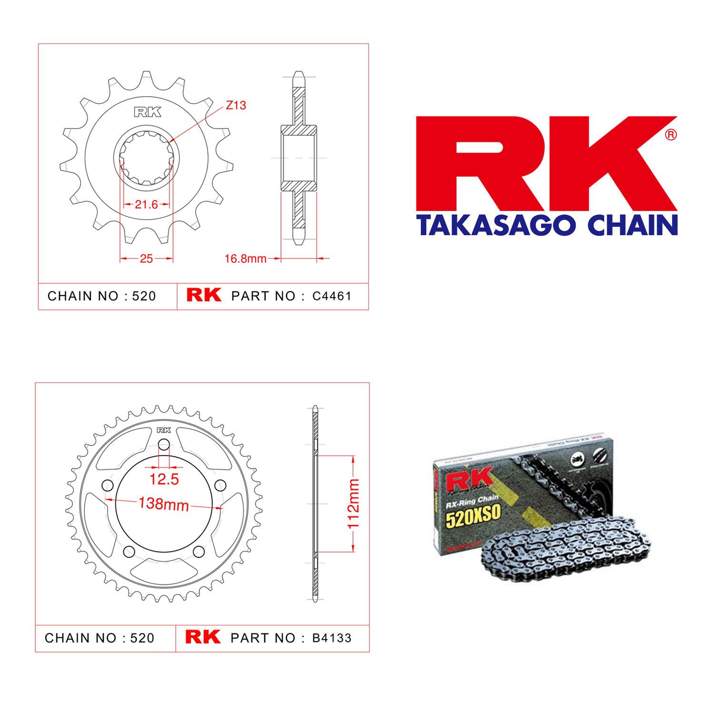 Rk X-ring Zincir Dişli Set 520 XSO-17/43T
