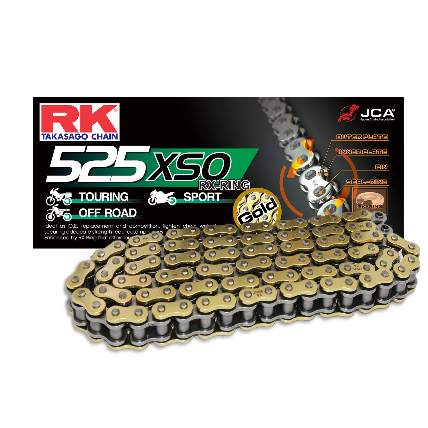 Rk X-Ring Zincir Gb 525 Xso 118L
