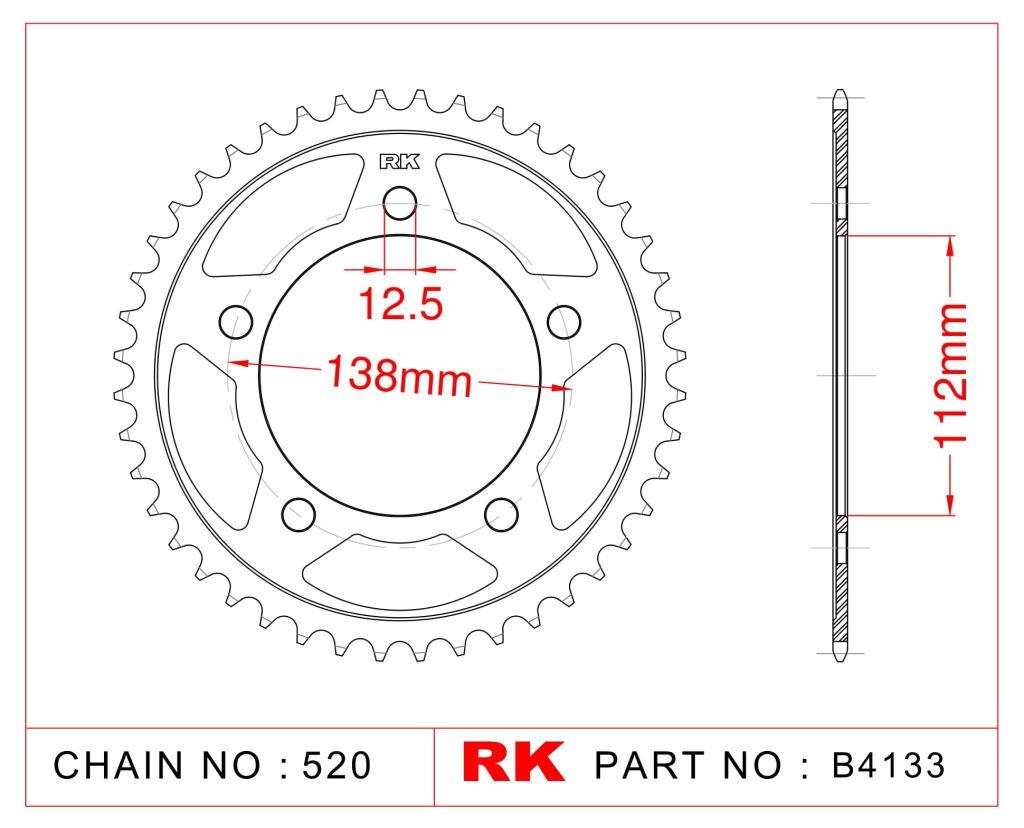 Rk Çelik Arka Dişli B4133-38