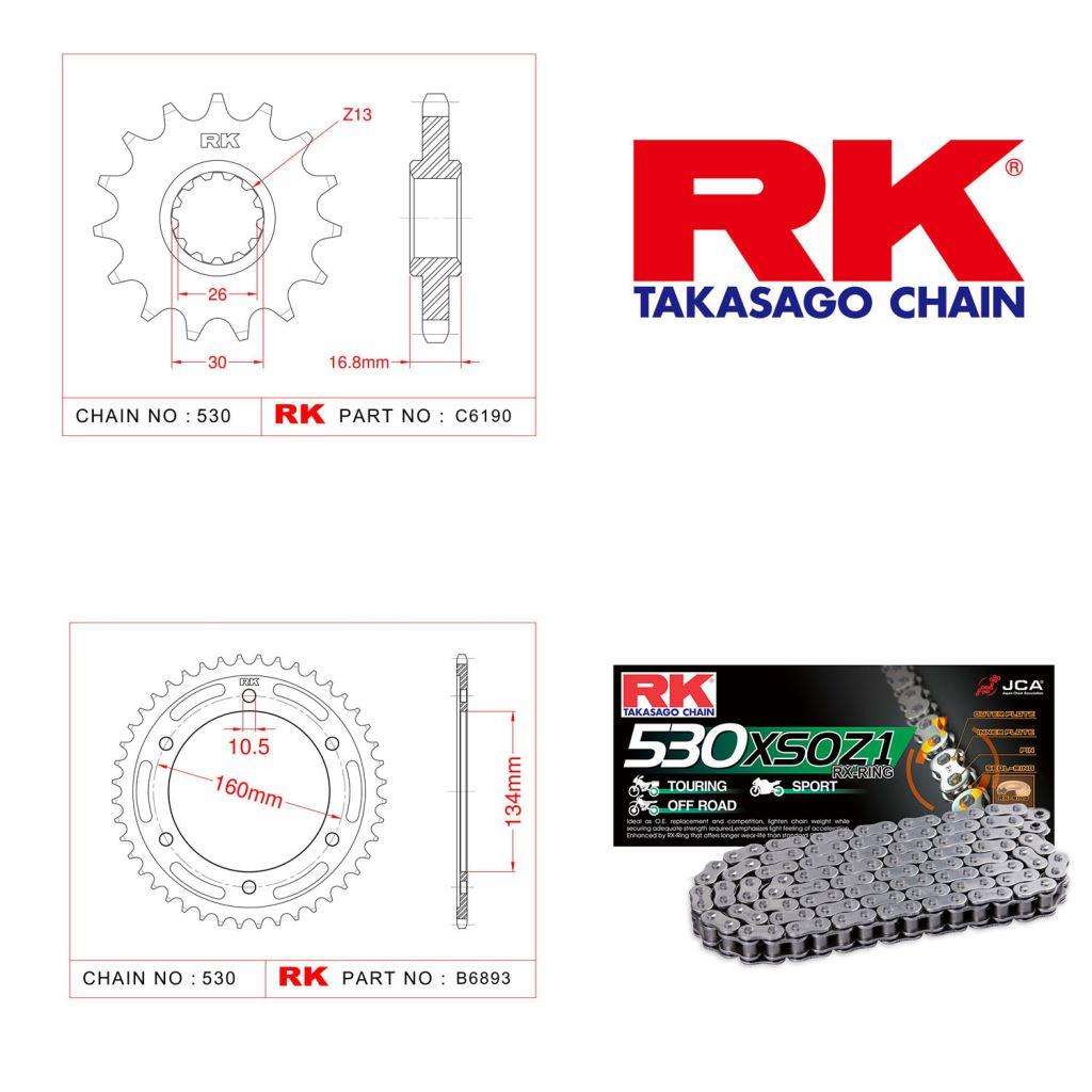 Rk X-ring Zincir Dişli Set 530 XSO-16/40T