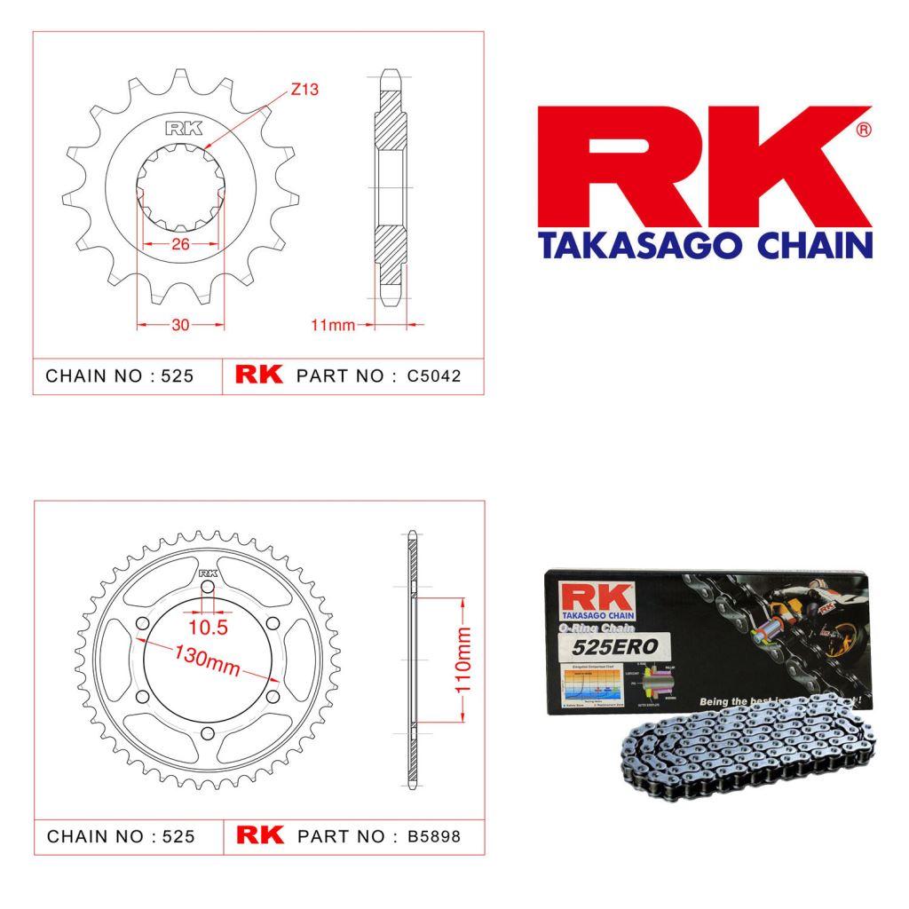 Rk Zincir Dişli Set 525 ERO O-Ring 16/43T