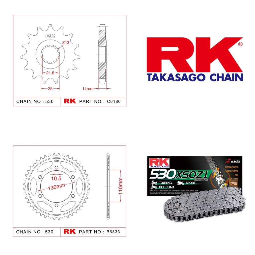 Rk X-ring Zincir Dişli Set 530 XSO-16/46T