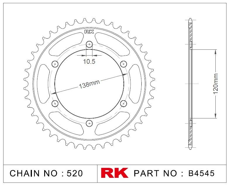 Rk Çelik Arka Dişli B4545-36